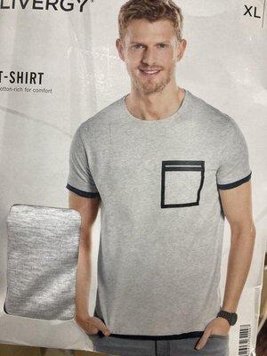 Стильная мужская футболка хлопок германия livergy