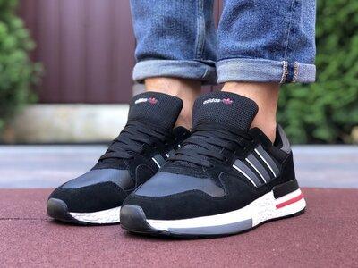 Мужские кроссовки Adidas Zx 500 Rm,чорно/білі