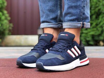 Мужские кроссовки Adidas Zx 500 Rm,темно сині з білим