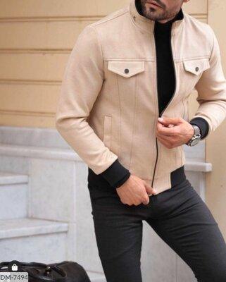 Продано: Пальто мужское замш р S, M, L, XL