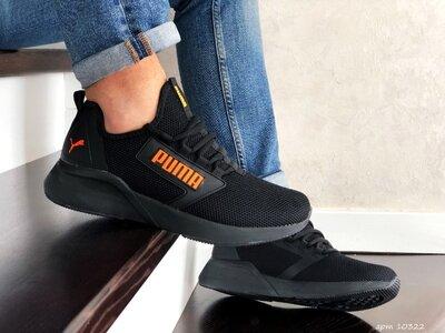 Кроссовки мужские Puma Hybrid, черные с оранжевым