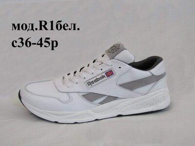 Мужские кроссовки Reebok model-R1, натуральная кожа