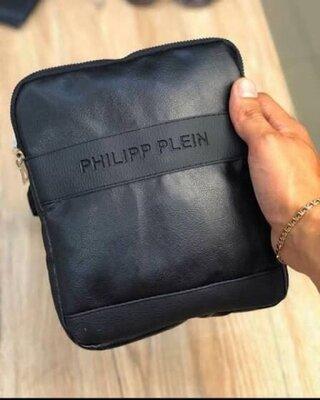 Мессенджер черный Philipp Plein D19