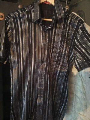 Рубашка стильная,стрейчевая.