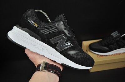 Кроссовки мужские New Balance 997H, черные, замш/текстиль