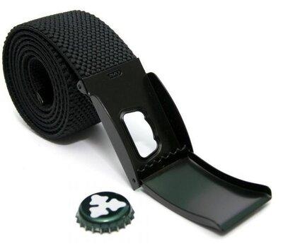 Тканевый черный ремень удлиненный 135 см.