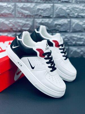 Кроссовки Nike Jordan Retro white/black кеды мужские Найк джордан ретро
