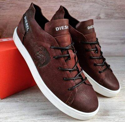 Мужские кожаные кеды Diesel