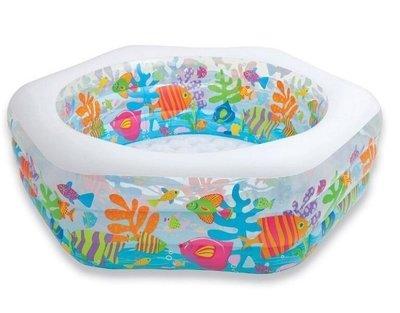 Продано: Детский надувной бассейн Intex 56493 «Океанский Риф» 191 178 61 см