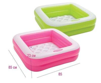 Детский надувной бассейн Intex 57100 85 85 23 см 2 цвета