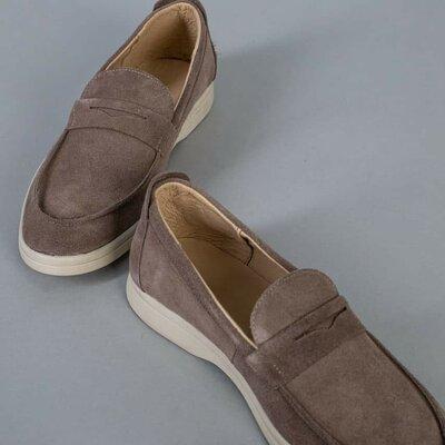 Мужские стильные туфли натуральный замш мокасины лоферы мокасы классные стильные модные лёгкие