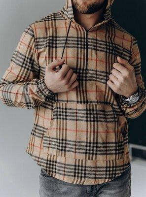 Стильная топовая рубашка -анорак в клетку, 4 расцветки