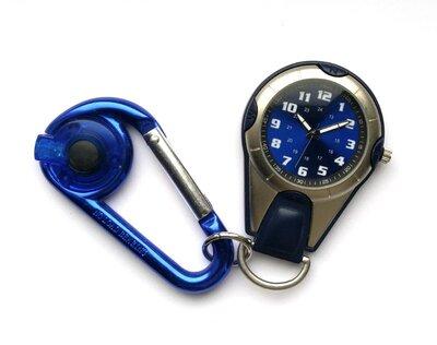 FMD походные часы из Сша с карабином и фонариком механизм Japan