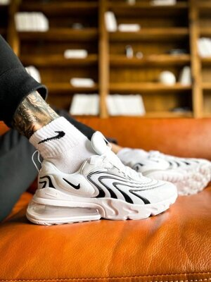 Мужские Кроссовки Nike Air Max 270 React White ААА 40-41-42-43-44-45
