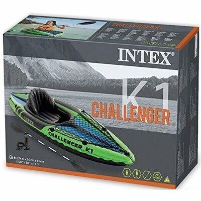 Одноместная надувная лодка-байдарка Intex 68305 Challenger K1 Kayak предназначена для активного отды