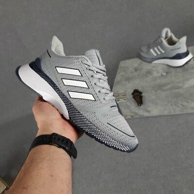 Кроссовки Adidas Nova Run, светло серые, 10428