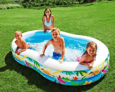 Продано: Детский надувной бассейн Intex Райская лагуна 56490 262 160 46см