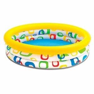 Разноцветный надувной бассейн для малышей от 2-х лет Intex 59419