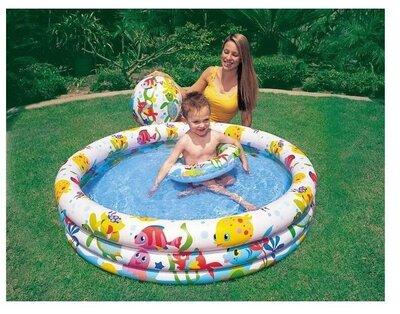 Продано: Детский надувной бассейн Intex 59469 «Аквариум», 132 28 см, с мячом и кругом