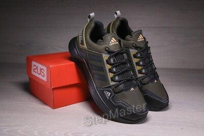 Мужские кожаные кроссовки Adidas Terrex Hikster Green Olive