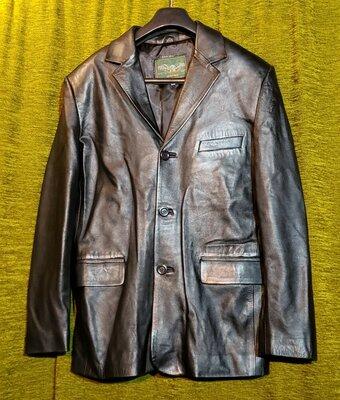 Пиджак итальянский кожаный
