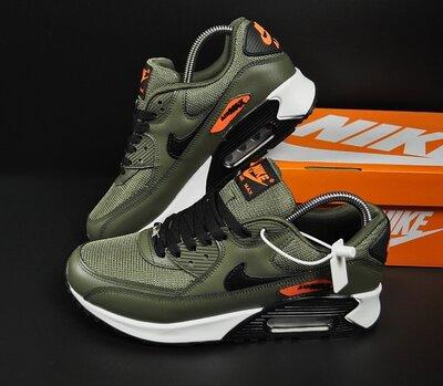 Кроссовки Nike Air Max 90 зеленые, хаки