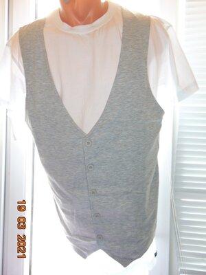 Катоновая стильная футболка жилет бренд Eddie Tigger.м-л.
