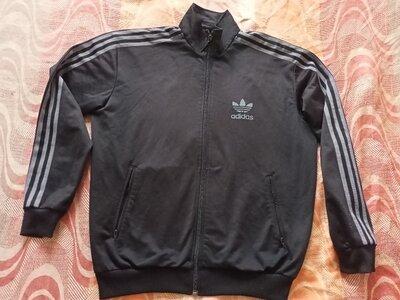 Мастерка олимпийка чёрная оригинал Adidas размер 48