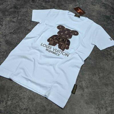 Брендовая футболка LOUIS VUITTON Цвет - Белый цена - 500грн