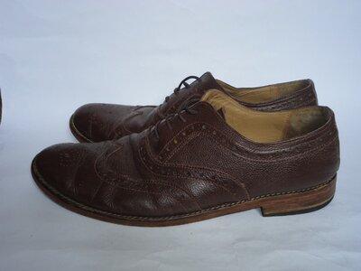 Туфли из натуральной кожи на широкую ногу р.46