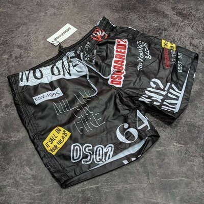 Пляжные шорты DSQUARED2 Производство Турция Материал - сухая ткань сетчатая по