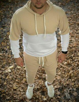 Спортивный костюм самой высокой плотности без начёса худи и штаны качество
