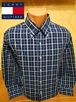 Стильная хлопковая рубашка в клетку бренда американской классики Tommy Hilfiger, пр-во Гонконг.