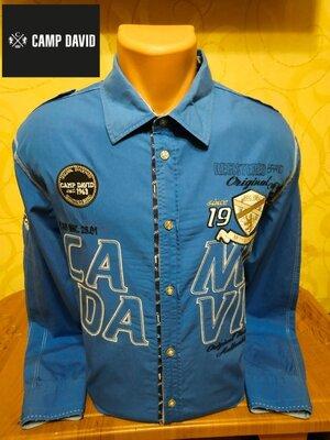 Эксклюзивная хлопковая рубашка известного немецкого премиум-бренда Camp David.