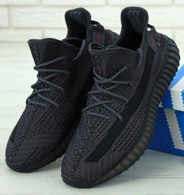 Чоловічі кросівки Adidas Yeezy Boost 350 41-45 Рефлективні шнурки