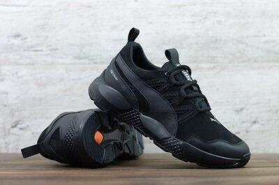 Мужские кожаные кроссовки Puma Р1 чер