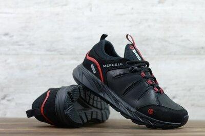 Мужские кожаные кроссовки Merrell М1 чер/кр