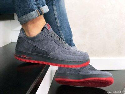 Стильные кроссовки Nike Air Force Af 1 серо/красные р.41-45
