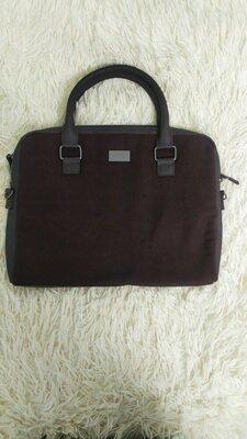 Продано: Сумка Hugo Boss портфель для документов планшета ноутбука коричневая