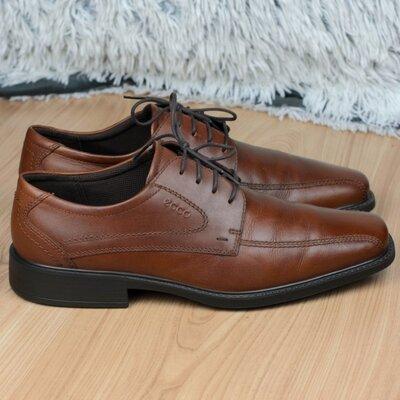Туфли кожаные дерби Ecco New Jersey Оригинал 45р. 29,5-30 см.