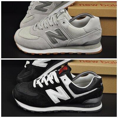 Мужские кроссовки New Balance черные и светло-серые