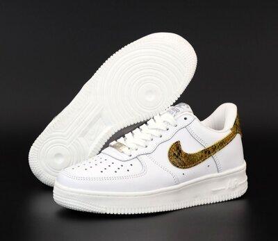 Мужские кроссовки Nike Air Force. Унисекс. White Brown