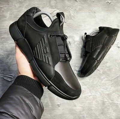 Кожаные мужские кроссовки Armani