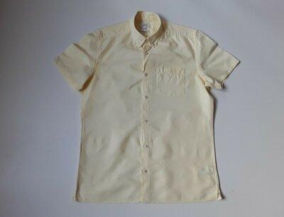Льняная желтая рубашка шведка Next