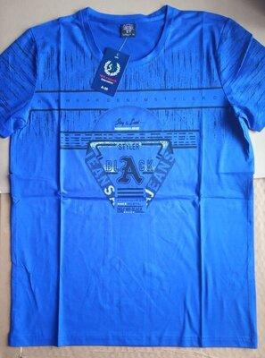 Футболка мужская летняя синяя 48