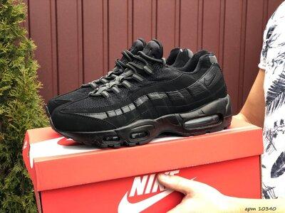 Кроссовки мужские Nike 95, черные, нубук