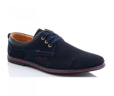Мужские туфли синие