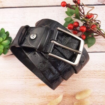 Мужской ремень JK-4055 black