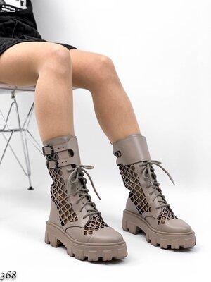 Женские натуральные замшевые кожаные чёрные бежевые белые ботинки на шнуровке на низком ходу