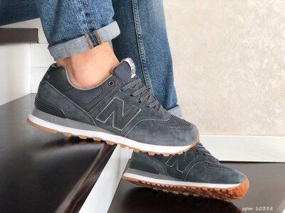 New Balance 574 кроссовки мужские демисезонные серые 10338